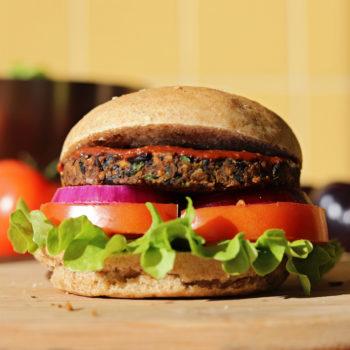 Burger à l'aubergine